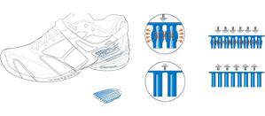 Babolat tennis shoe technology - Kompressor System