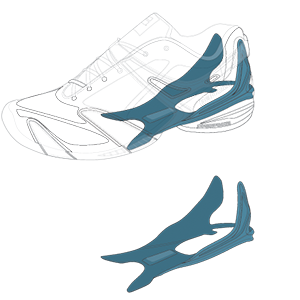 Babolat tennis shoe technology - Lateral Stability System