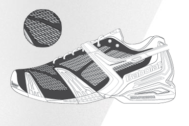 Babolat tennis shoe technology - Cell Sheild