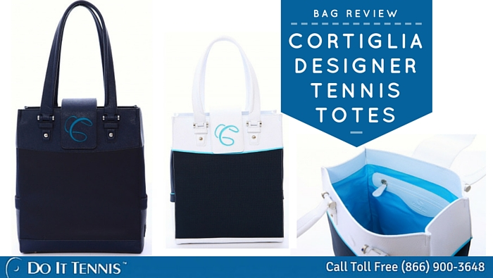 Two Luxurious New Designer Tennis Bags from Cortiglia