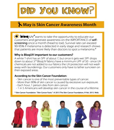 Bloq UV Skin Cancer Awareness