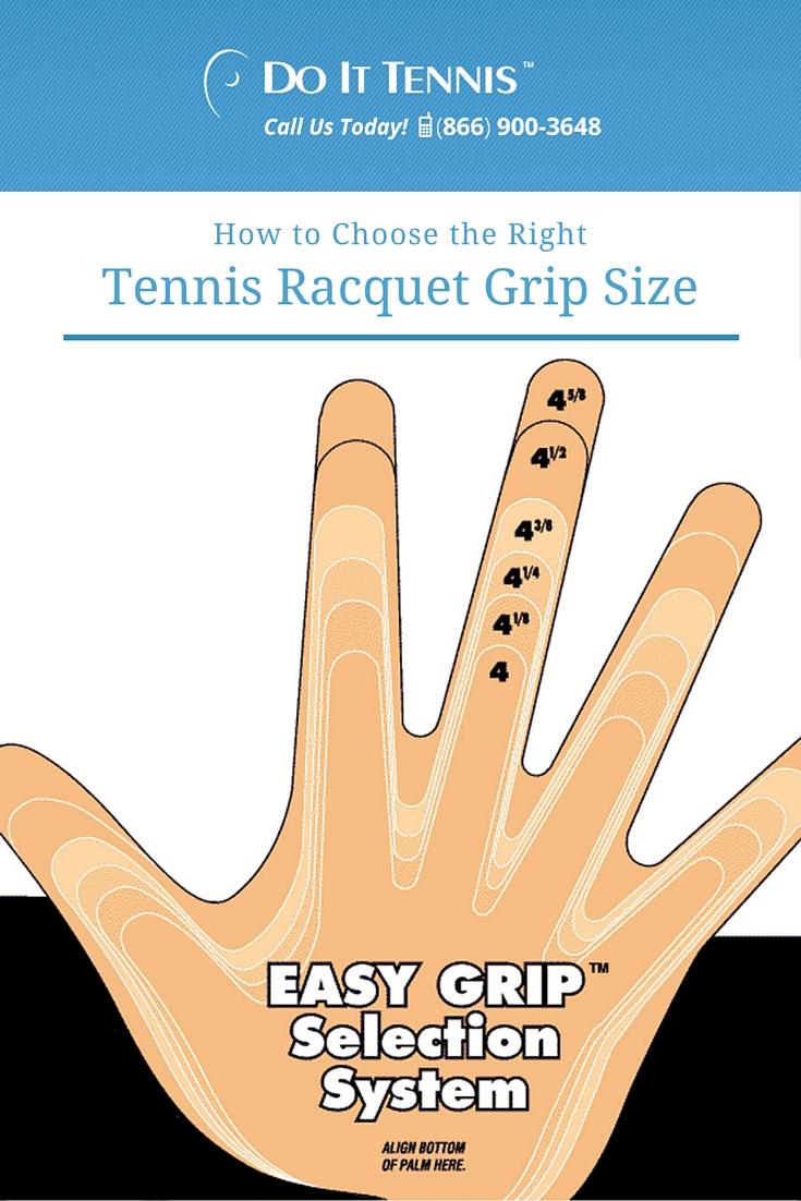 Choosing the Right Tennis Racquet Grip Size