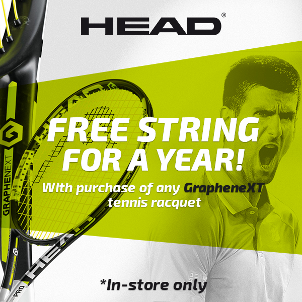 Free Head Tennis String for a Year