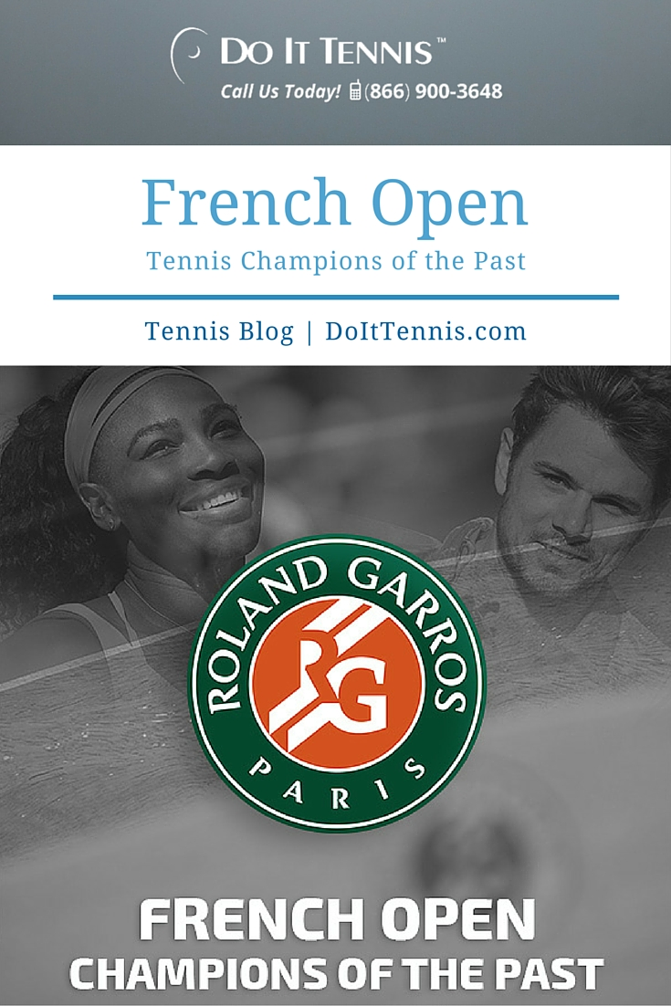 French Open Tennis Champions of the Past