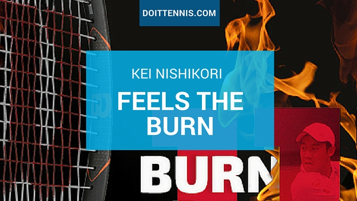 Kei Nishikori Feels the Wilson Burn