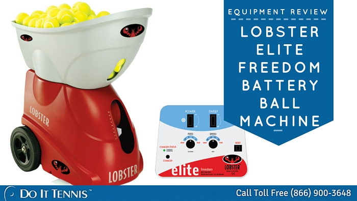 Lobster Elite Freedom Battery Powered Tennis Ball Machine Review