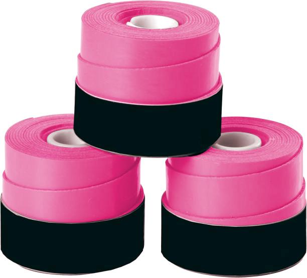 Overgrip 3-Pack Pink Set Kit Bundle Juniors Adults Girls Boys Kids Men Ladies Tennis Racket Racquet