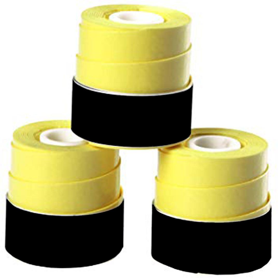 Overgrip 3-Pack Yellow Set Kit Bundle Juniors Adults Girls Boys Kids Men Ladies Tennis Racket Racquet