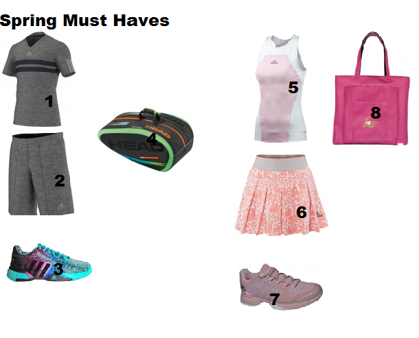 tennis apparel in spring