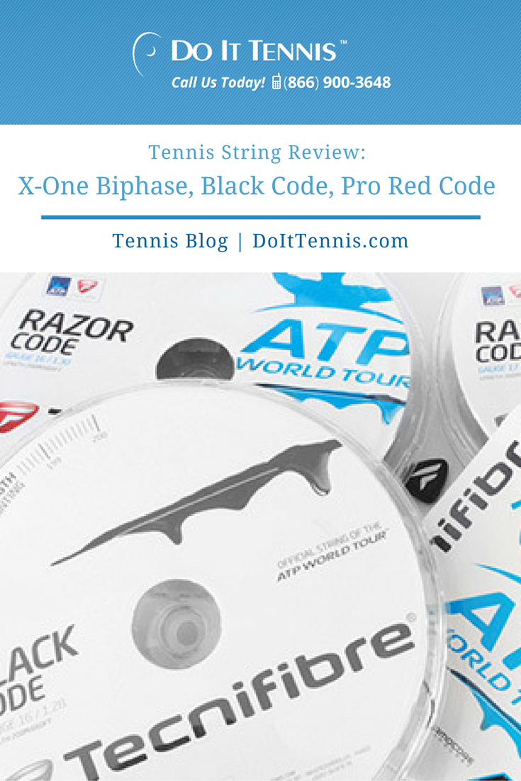 Tennis String Review Tecnifibre X-One Biphase, Black Code. Pro Red Code