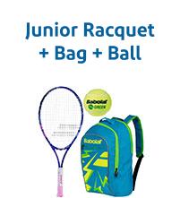 Racquet + Bag + Ball