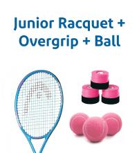 Racquet + Overgrip + Ball
