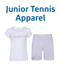 Wimbledon White Junior Tennis Apparel