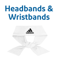 Wimbledon White Tennis Headbands & Wristbands