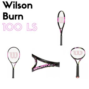 The Fiery Hot Wilson Burn 100LS Tennis Racquet - Pink!