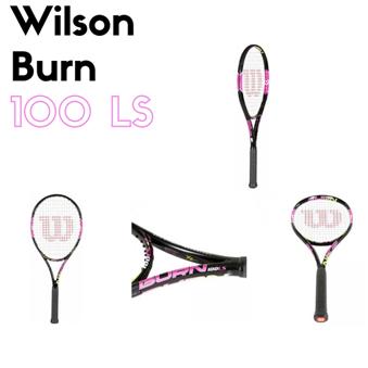 The Fiery Hot Wilson Burn 100LS Tennis Racquet - Pink!