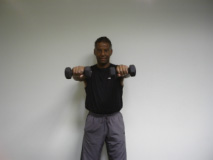 Front Shoulder Raise Exercising