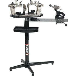 Tennis racquet stringing machine