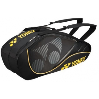 Yonex Tournament Active 6-Pack Racquet Bag (Black/Yellow)