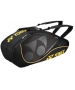 Yonex Tournament Active 6-Pack Racquet Bag (Black/Yellow) - 6 Racquet Tennis Bags