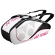 Yonex Tournament Active 6-Pack Racquet Bag (White/Pink/Black) - Yonex Tennis Bags