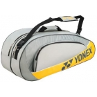 Yonex Club 6 Pack Racquet Bag (Gray) - Yonex Tournament Basic Tennis Bags