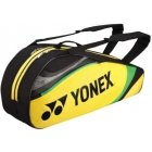Yonex Tournament Basic 6-Pack Racquet Bag (Yellow) - Yonex Tournament Basic Tennis Bags