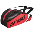 Yonex Tournament Basic 6-Pack Racquet Bag (Red/Black) - Yonex Tournament Basic Tennis Bags