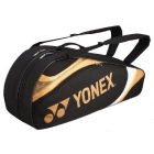 Yonex Tournament Basic 6-Pack Racquet Bag (Black/Gold) - Yonex Tournament Basic Tennis Bags