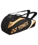 Yonex Tournament Basic 6-Pack Racquet Bag (Black/Gold) - 6 Racquet Tennis Bags