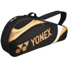 Yonex Tournament Basic 3-Pack Racquet Bag (Black/Gold) - Yonex Tournament Basic Tennis Bags