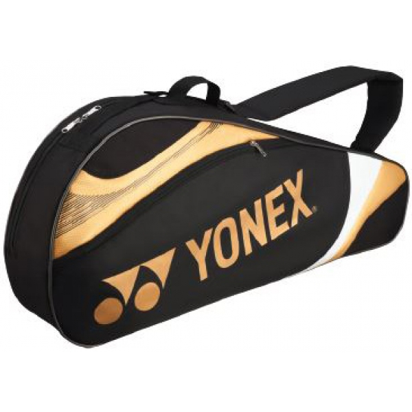 Yonex Tournament Basic 3-Pack Racquet Bag (Black/Gold)
