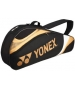 Yonex Tournament Basic 3-Pack Racquet Bag (Black/Gold) - Yonex Tennis Bags