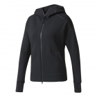 Adidas Women's Z.N.E. Tennis Warm-up Hoodie (Black) - Adidas Tennis Apparel