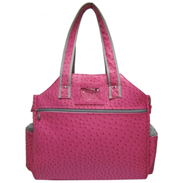 Jet Ostrich Bold Pink Tennis Tote Bag
