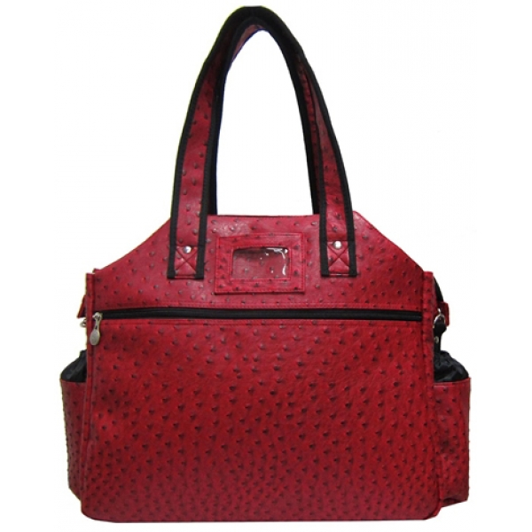 Jet Ostrich Crimson Tennis Tote Bag