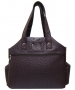Jet Ostrich Eggplant Tennis Tote Bag - New Womens Bags