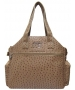 Jet Ostrich Camel Tennis Tote Bag - New Womens Bags