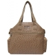 Jet Ostrich Camel Tennis Tote Bag - Jet Bags