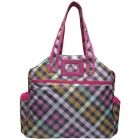 Jet Jazzy Pink Plaid Tennis Tote Bag - Jet  Tennis Bags
