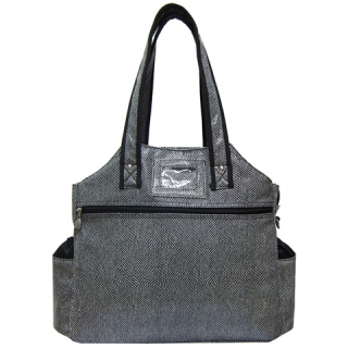 Jet Salt and Pepper Tennis Tote Bag
