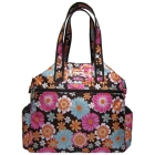 Jet Wild Zinnias Tennis Tote Bag - Best Sellers