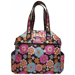 Jet Wild Zinnias Tennis Tote Bag