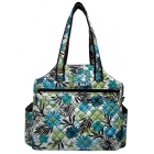 Jet Heirloom Quilted Tennis Tote Bag - Jet  Tennis Bags