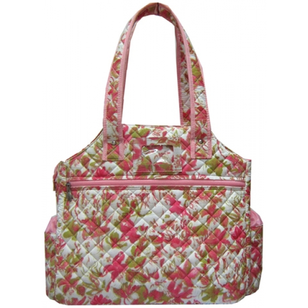 Jet Versailles Quilted Tennis Tote Bag