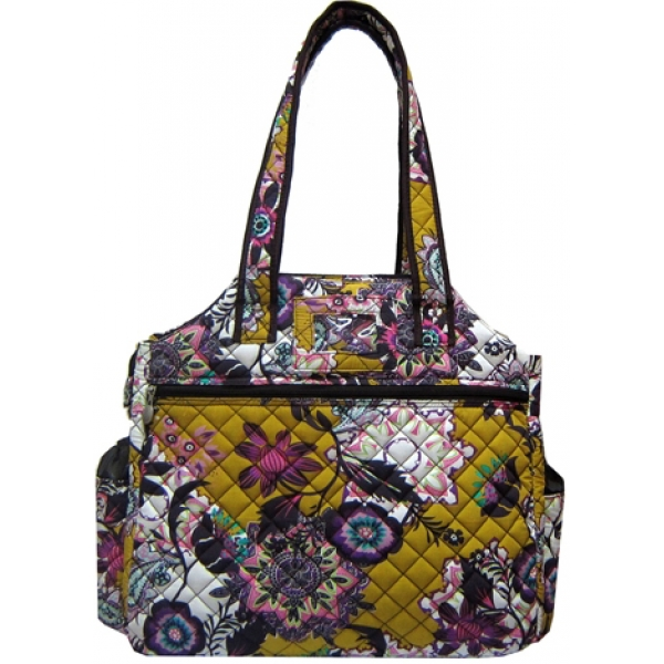 Jet Fantasy Quilted Tennis Tote Bag