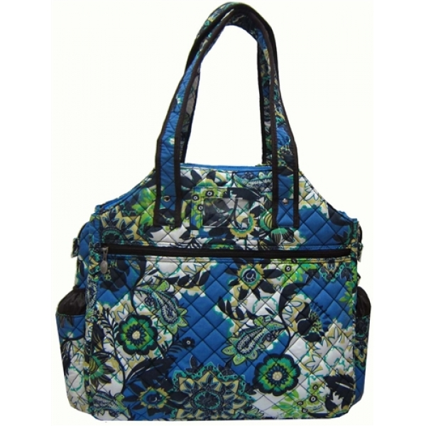 Jet Perennial Sky Quilted Tennis Tote Bag