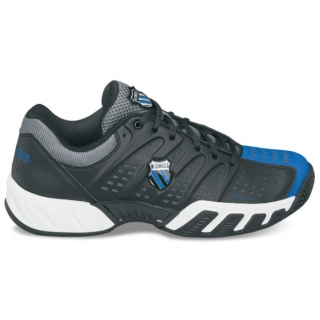K-Swiss Men's Bigshot Light Tennis Shoe (Black/ Blue/ Charcoal)