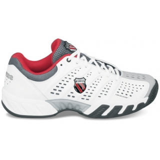 K-Swiss Men's Bigshot Light Tennis Shoe (White/ Black/ Red)