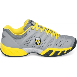 K-Swiss Men's Bigshot Light Tennis Shoe (Grey/ Charcoal/ Yellow)